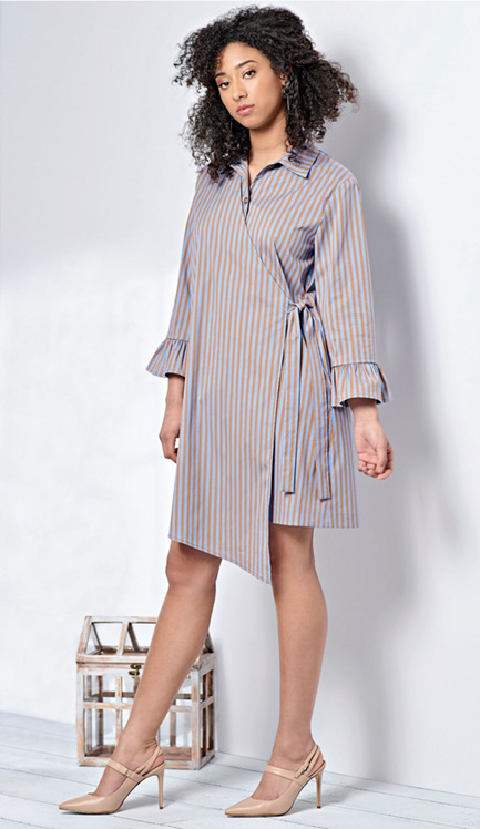 Simplicity 8687 shirt dress with a twist