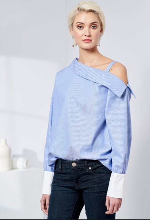 Simplicity 8693 one shoulder shirt