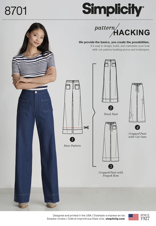 Simplicity 8701 wide-legged Trousers - pattern hack
