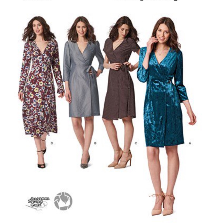 Simplicity 8735 real wrap dresses