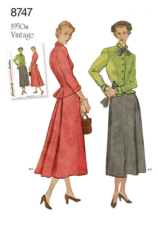 Simplicity 8747 50s two-piece suit