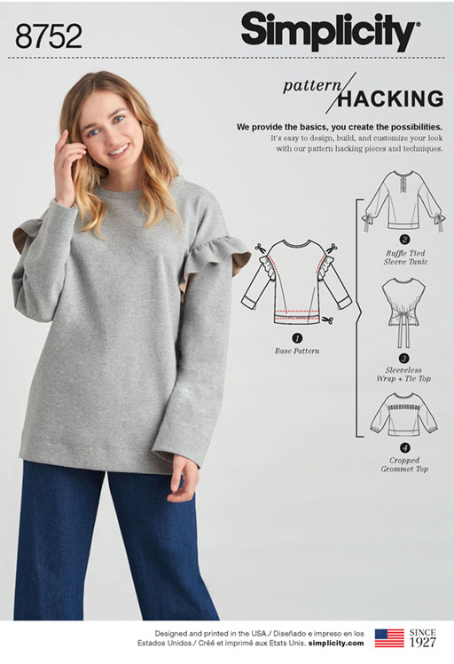 Simplicity 8752 knit tops - pattern hack