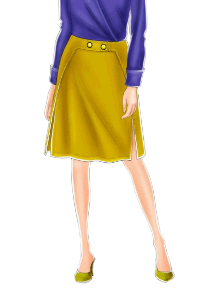 Skirt with detachable belt #5181 from Modern Sewing Patterns