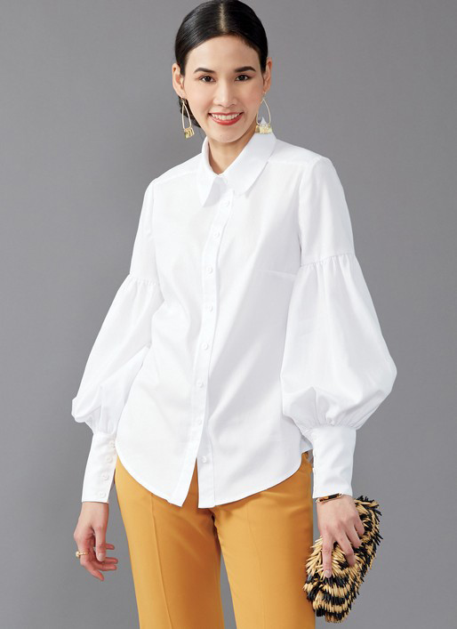 McCall's 7837 button front blouses