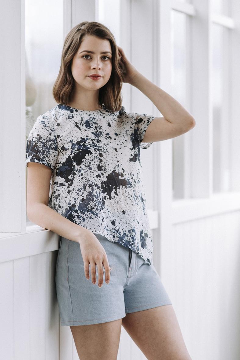 Floreat dress/top sewing pattern from Megan Nielsen