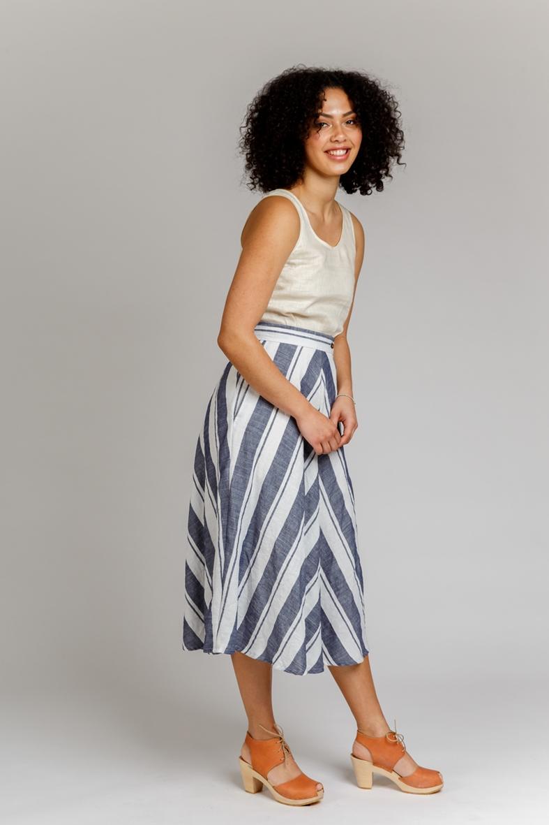 Wattle skirt sewing pattern designed by Megan Nielsen