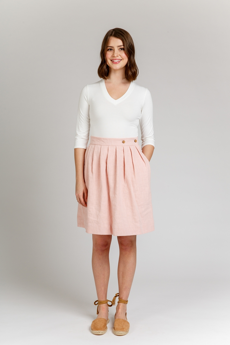 Wattle skirt sewing pattern designed by Megan Nielsen