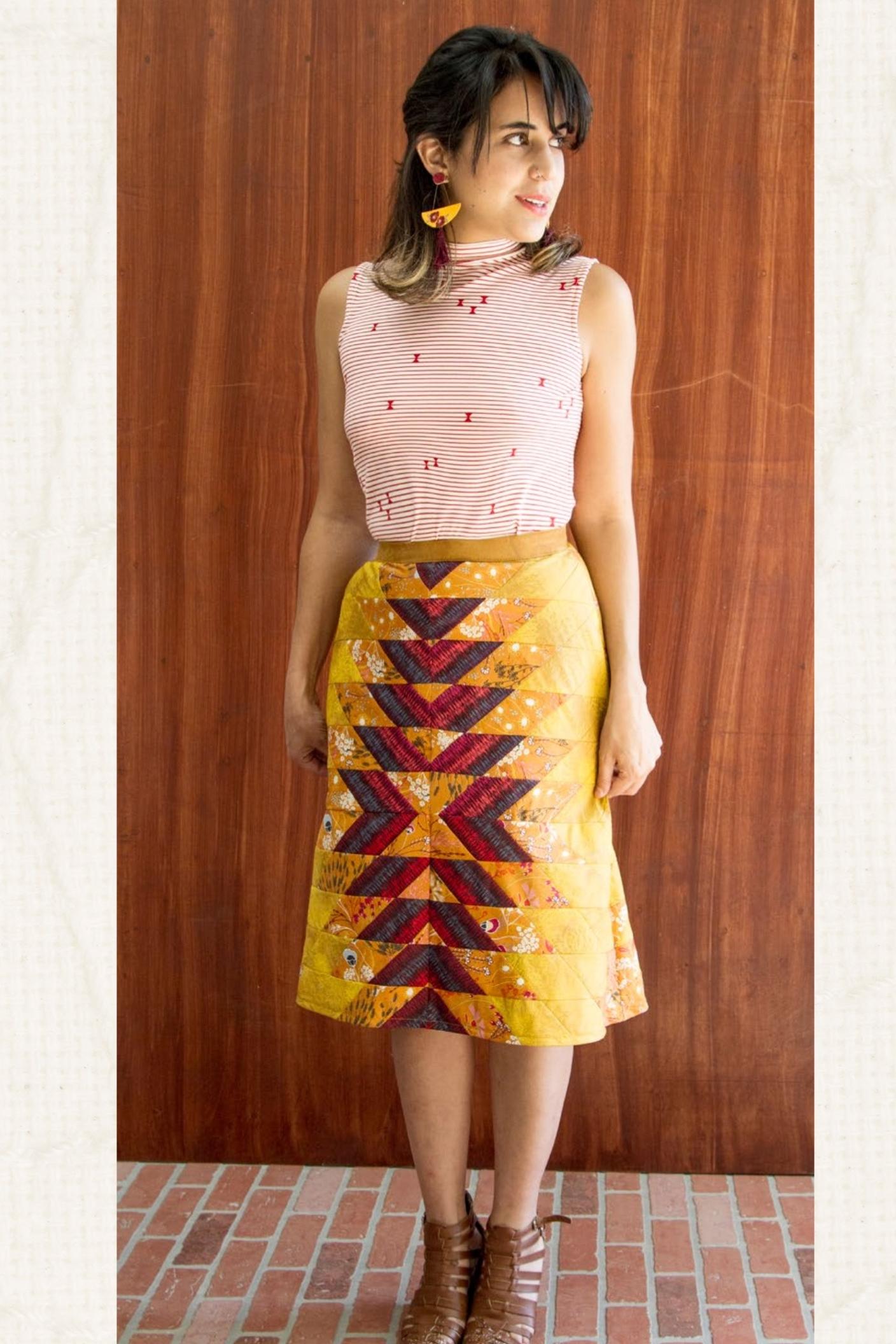 Jewel Skirt from Art Gallery Fabrics