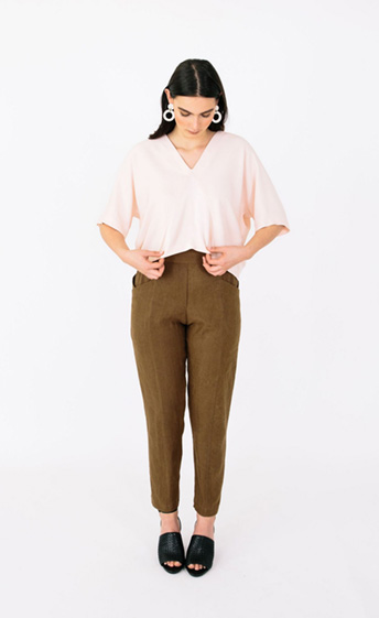 Palisade Pant from the geo Collection by Papercut Patterns