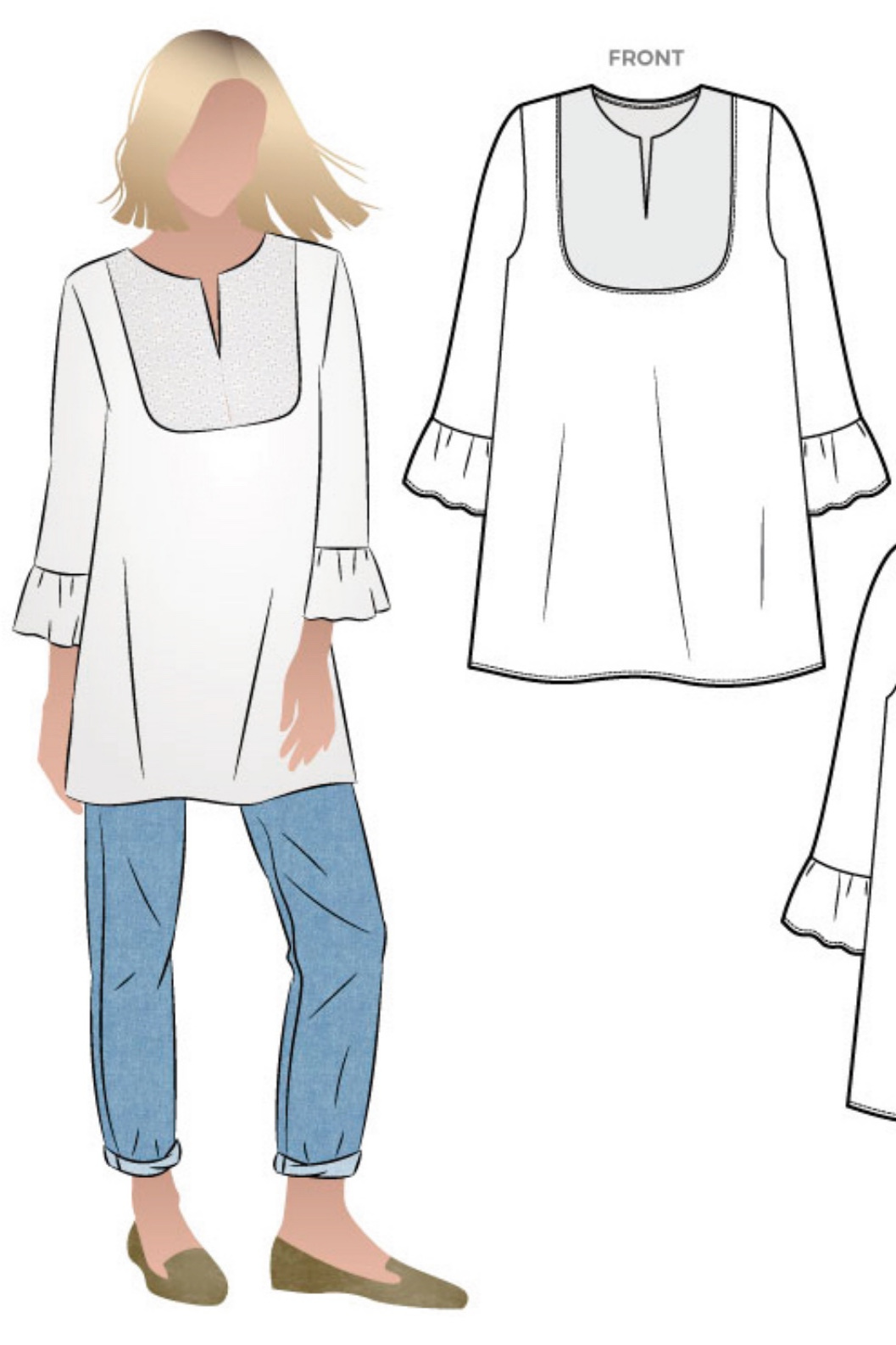 The Culliver Tunic from Style Arc