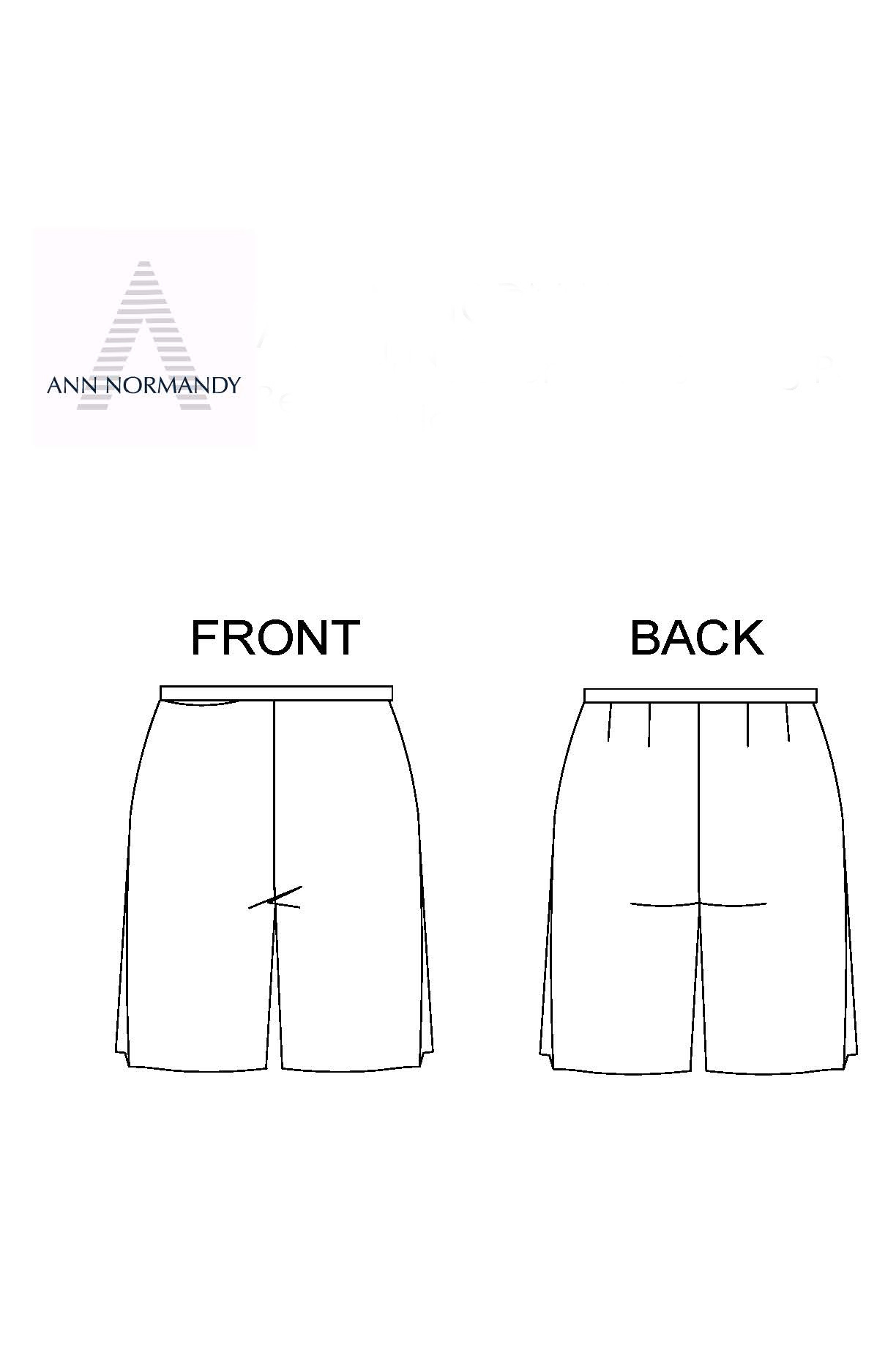 Bermuda Shorts sewing pattern from Ann Normandy