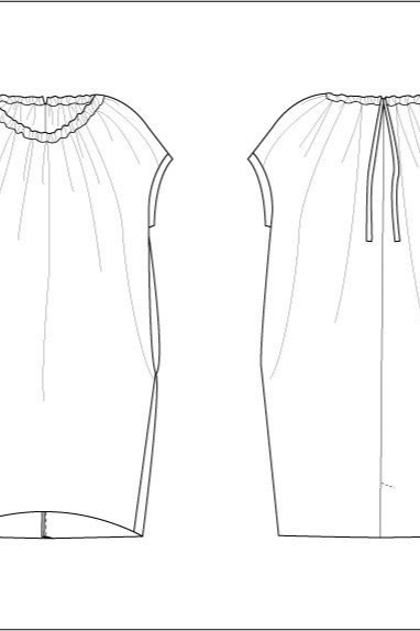 Claire dress sewing pattern from Daughters of Style