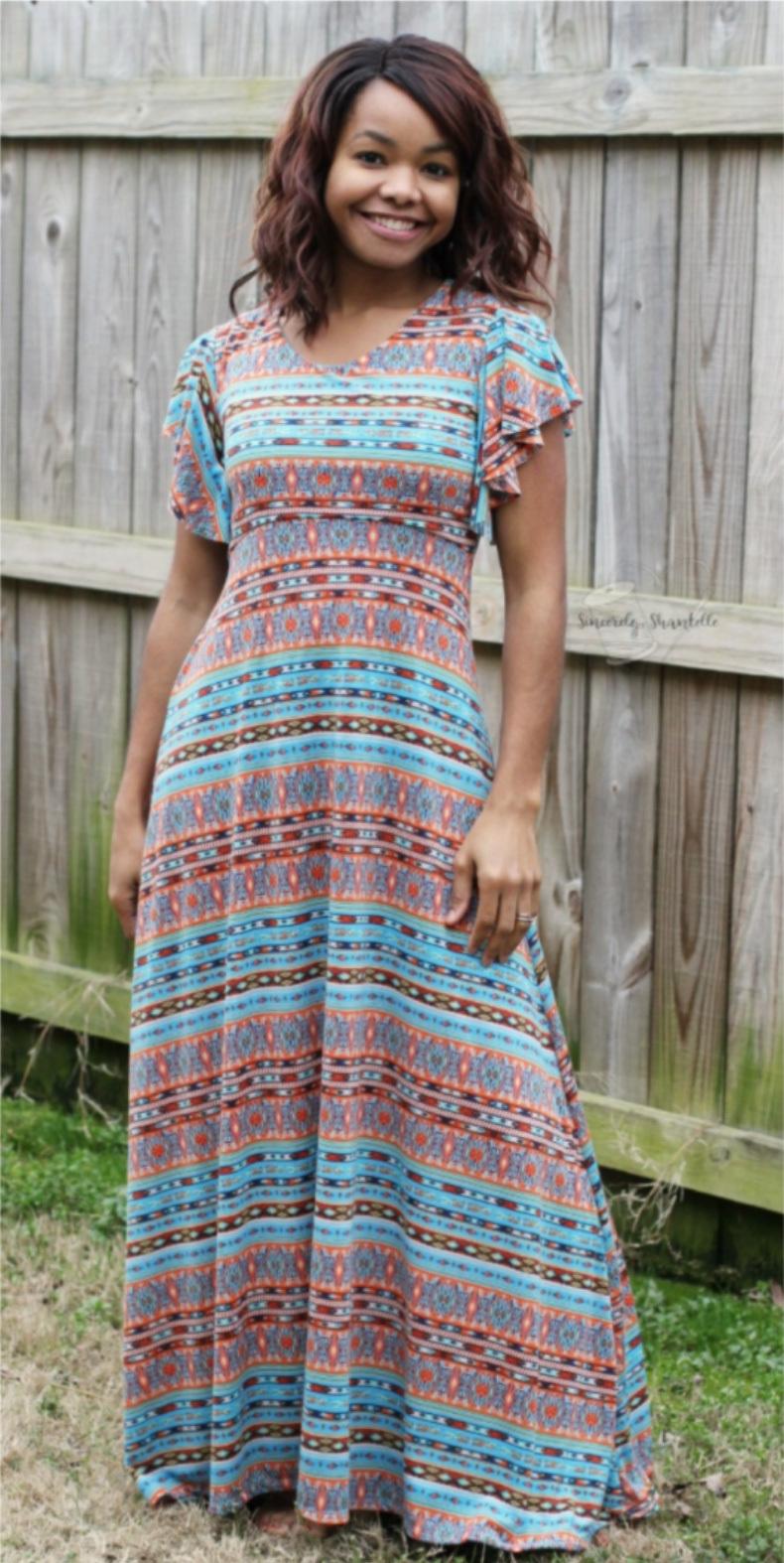 Women's Be Dreamy Dress sewing pattern from Ellie & Mac