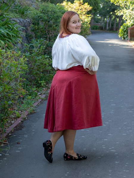 Fantail Historical Skirt pattern from Scroop Patterns