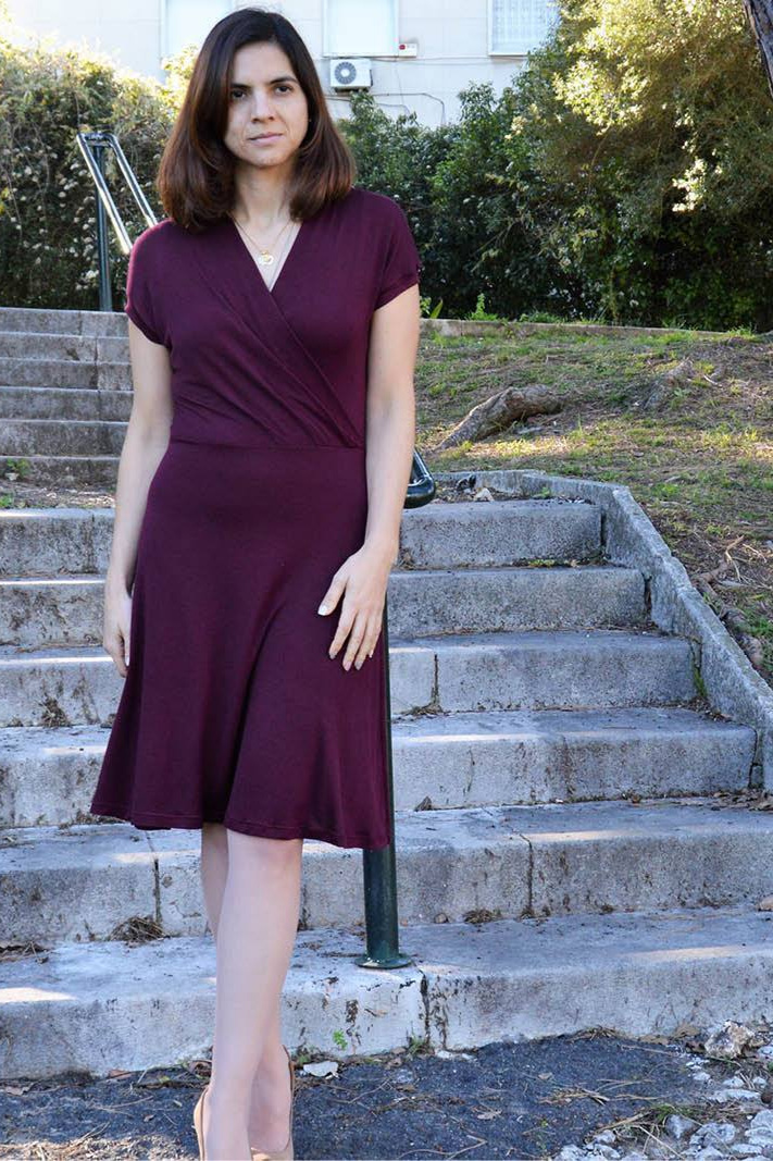 The Mirri Wrap Dress sewing pattern from Wardrobe By Me
