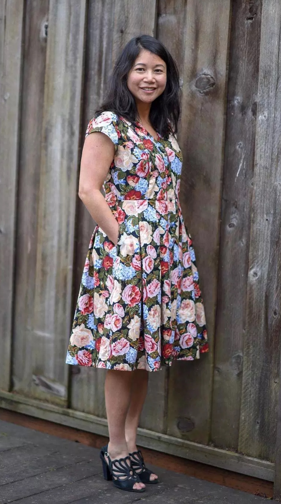 Kalispell dress sewing pattern from Itch to Stitch