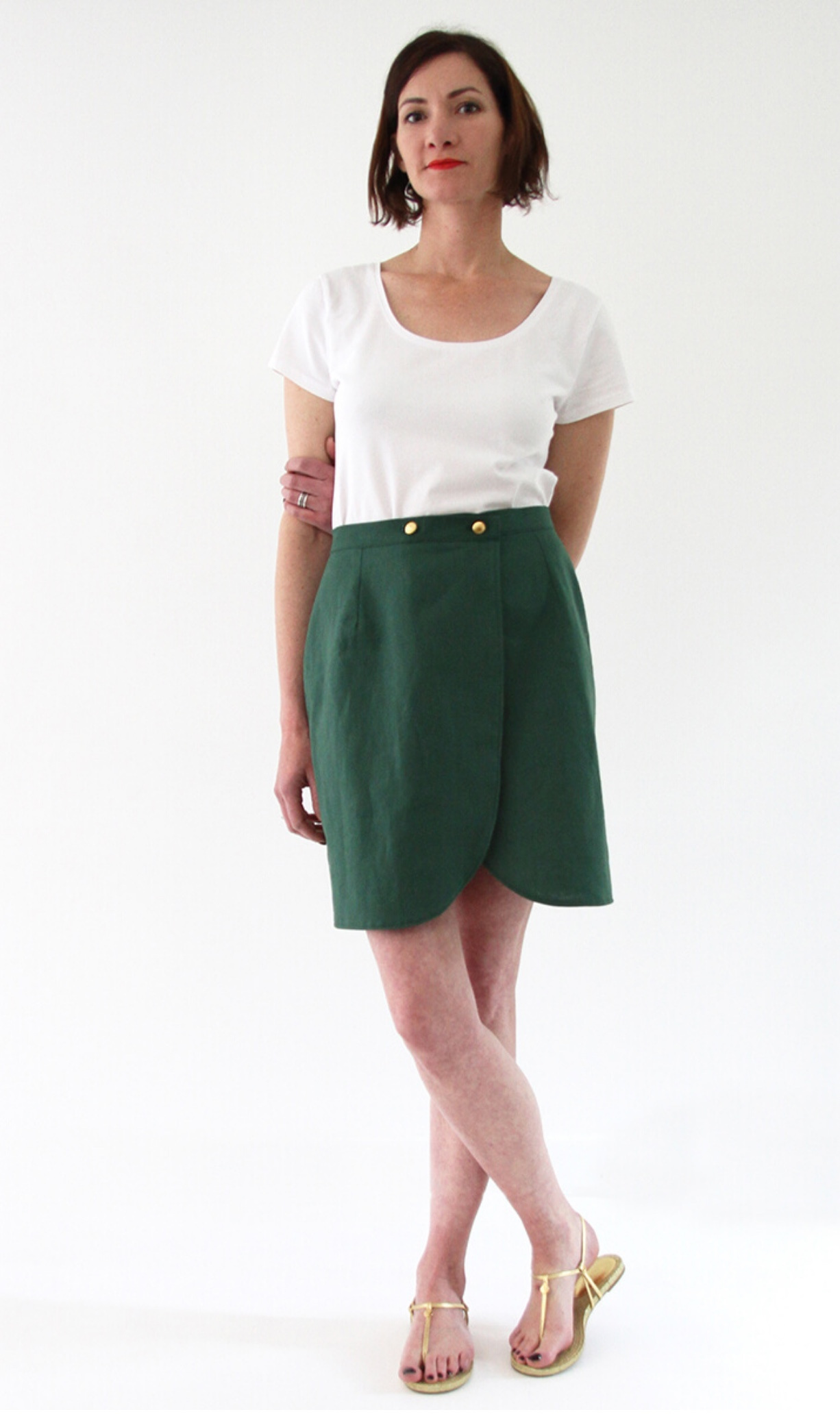 Malo wrap skirt sewing pattern from I AM Patterns