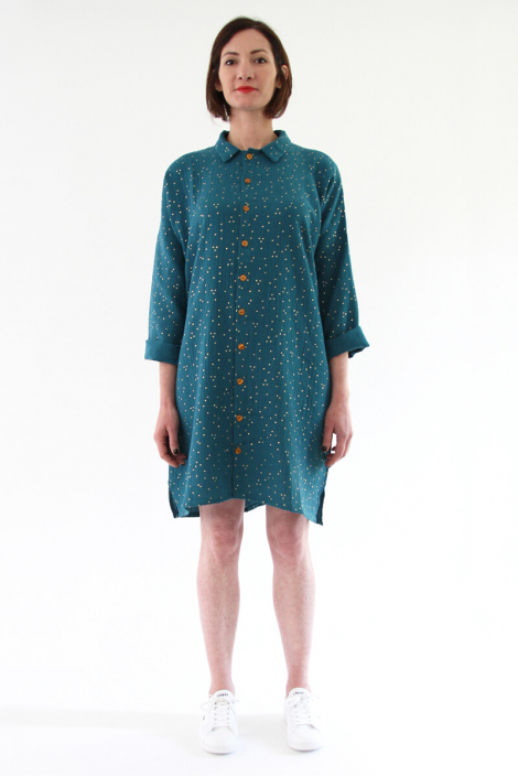 Lucienne shirtdress/tunic and top sewing pattern from I AM Patterns