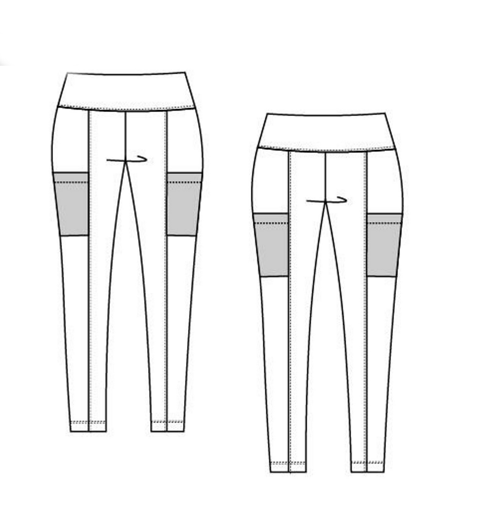 Caine leggings sewing pattern from DG Patterns