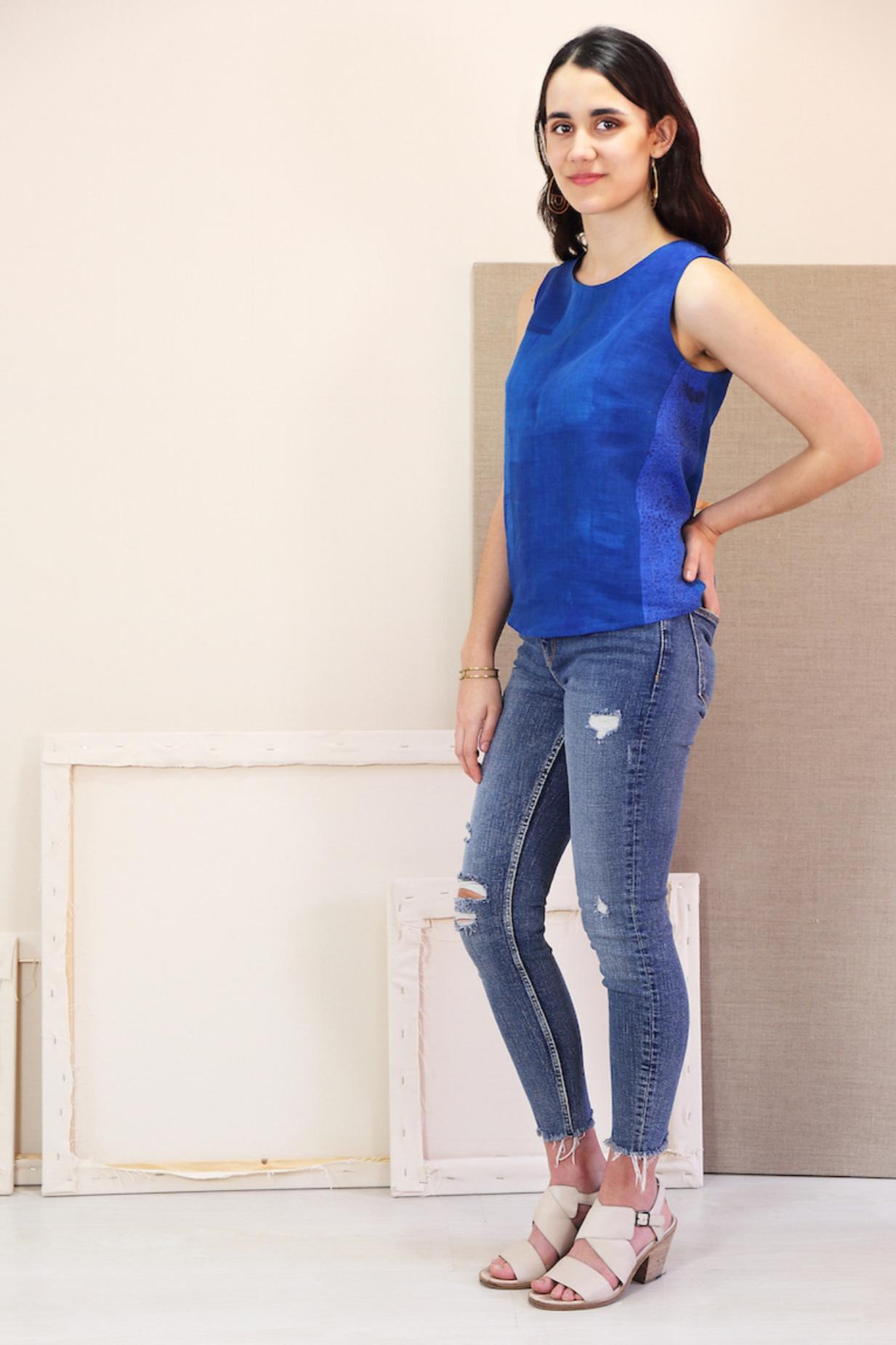 Breezy Blouse sewing pattern from Liesl + Co