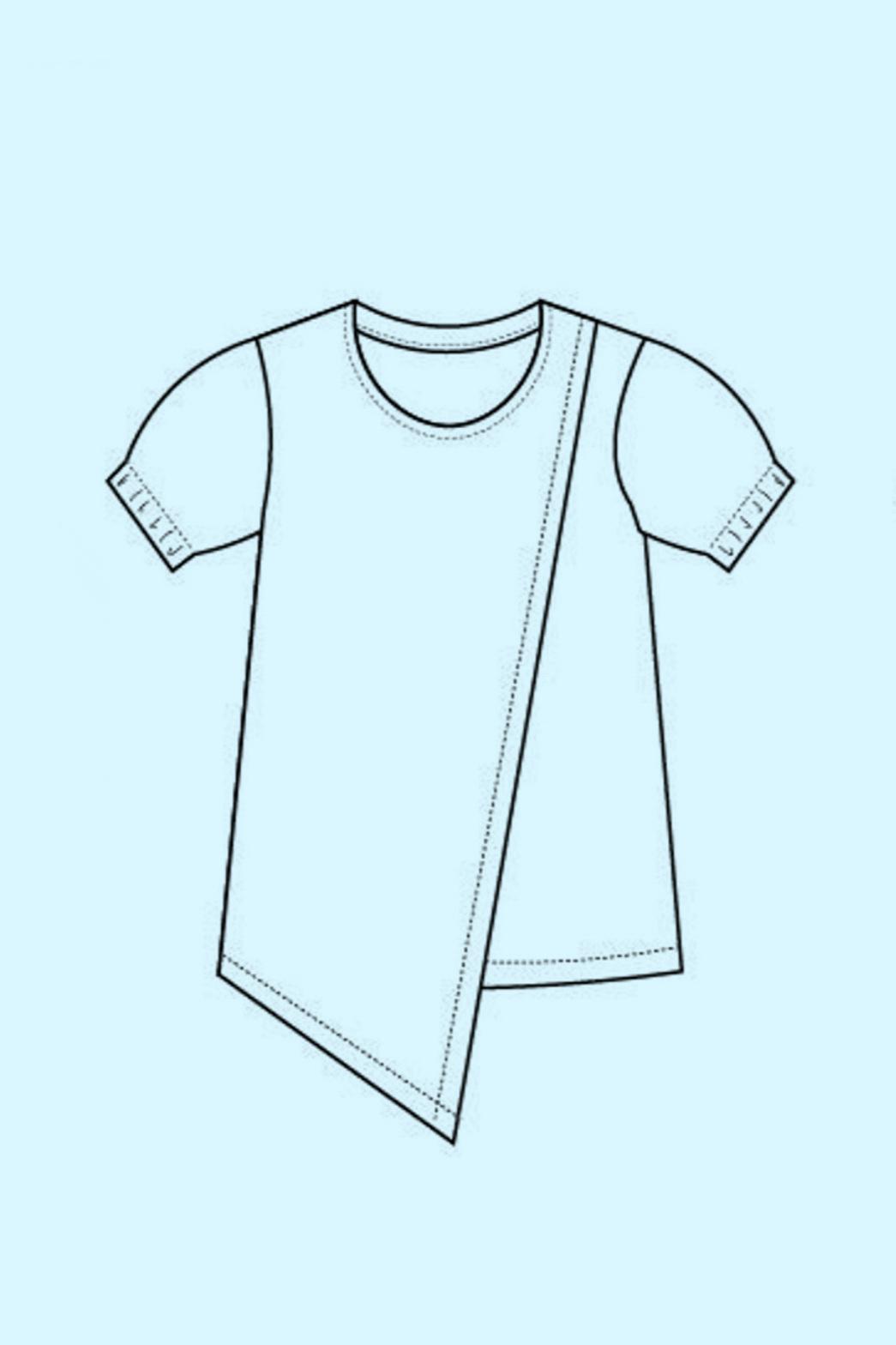 Dawna top sewing pattern by DG Patterns