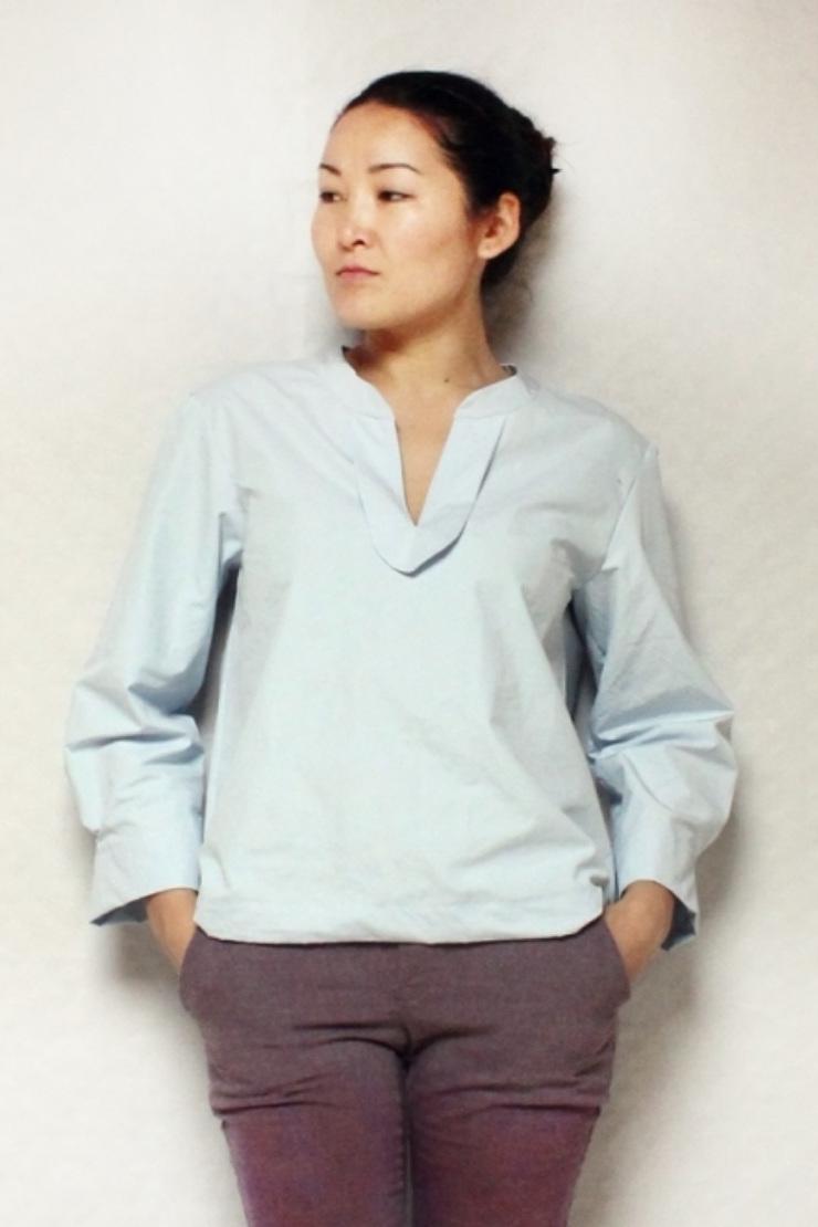 Ulanbator simple blouse from Oki-Style