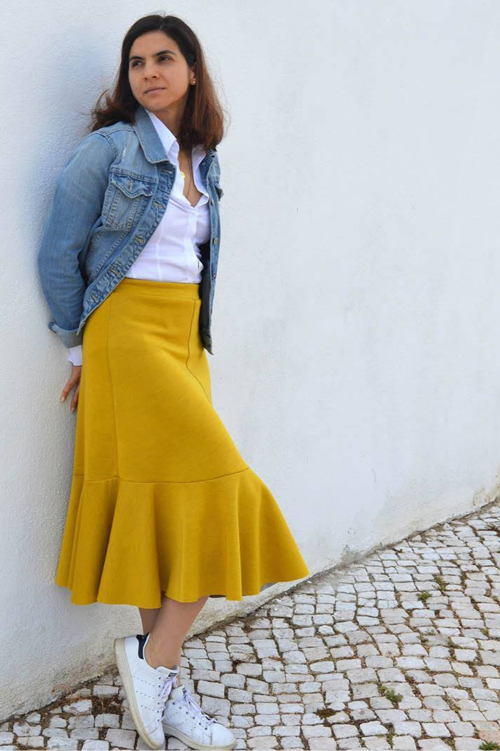Linea A-line skirt sewing pattern from Wardrobe By Me