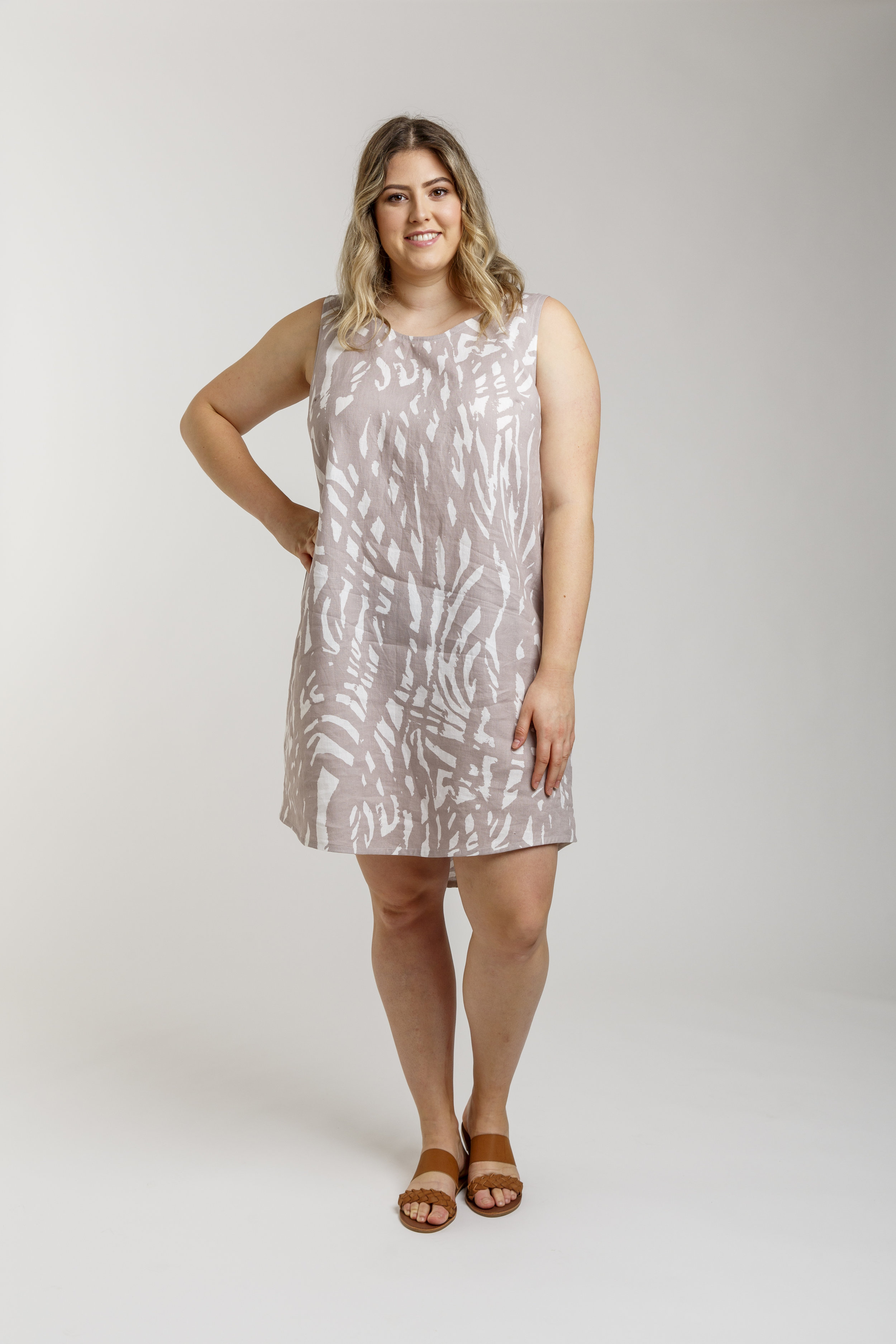The Eucalypt dress & top Curve sewing pattern from Megan Neilsen