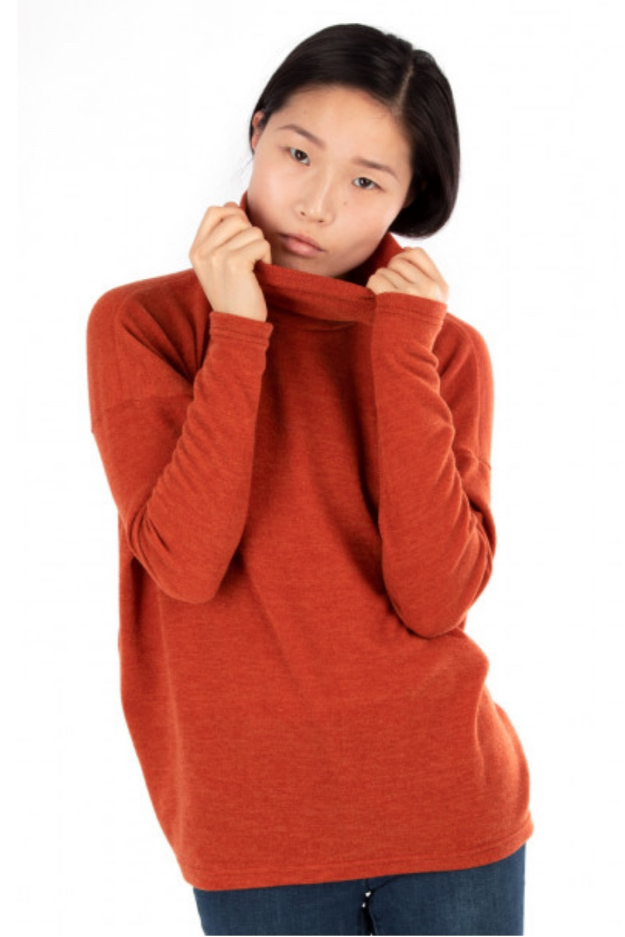 Yoko square rollneck top from Jalie