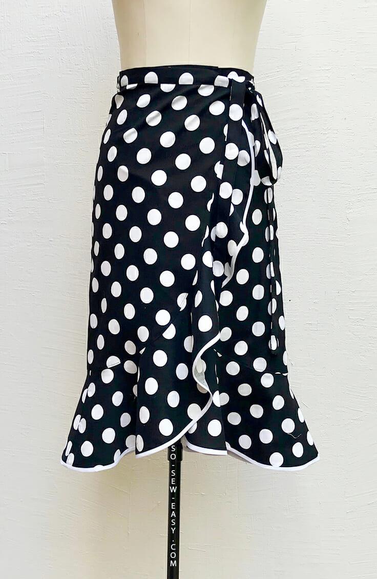 Flounce Wrap Skirt from So Sew Easy