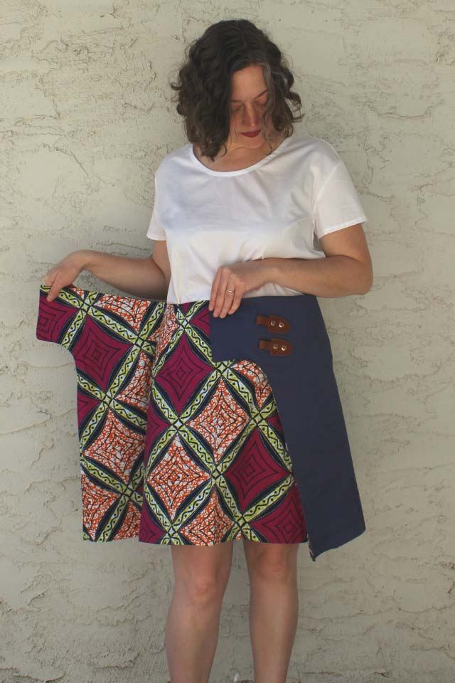 The Lily Wrap Skirt from Designer Stitch