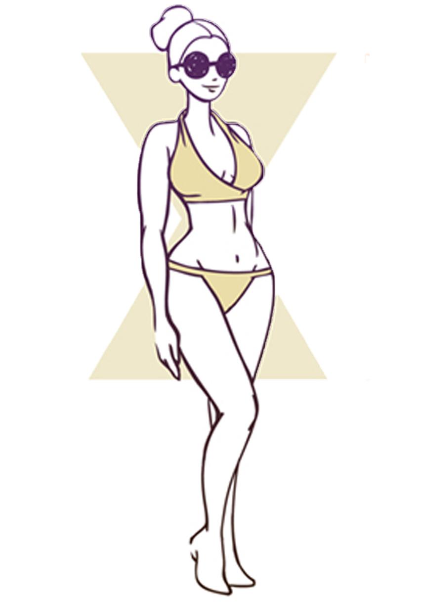 Hourglass body shape graphic