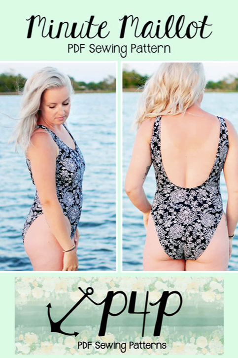 Minute Maillot swimsuit pattern from Patterns for Pirates