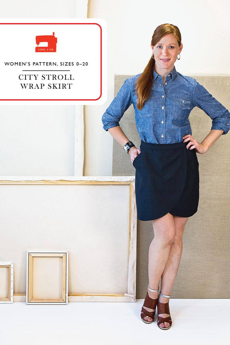 City Stroll Wrap Skirt from Liesl + Co