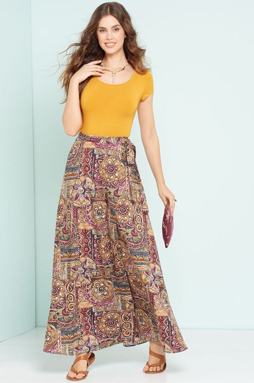 New Look 6456 wrap maxi