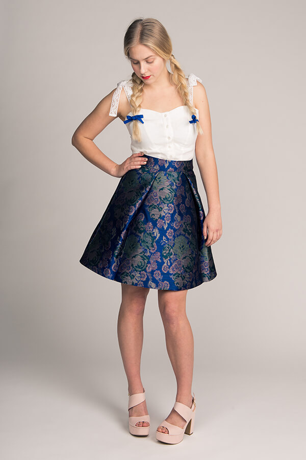 Named- Eleonora Pleated Mini Skirt
