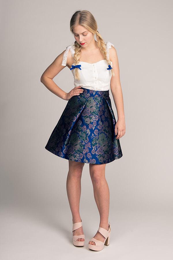 Named- Eleonora Pleated Mini Skirt