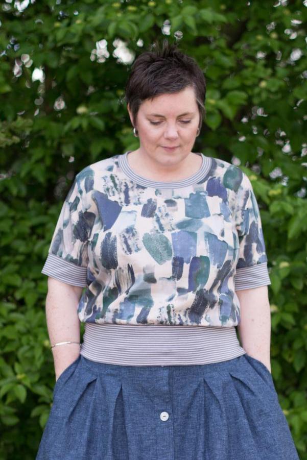 Regan Top sewing pattern from Sew Me Something