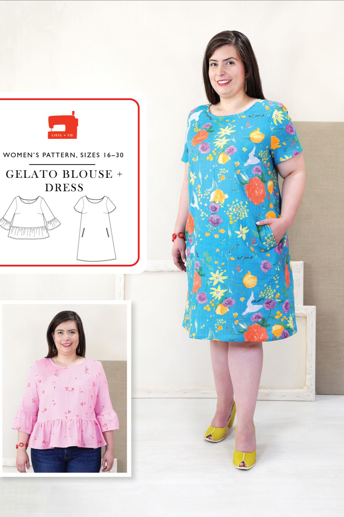 Gelato blouse + Dress sewing pattern (plus size) from Liesl +Co.jpg
