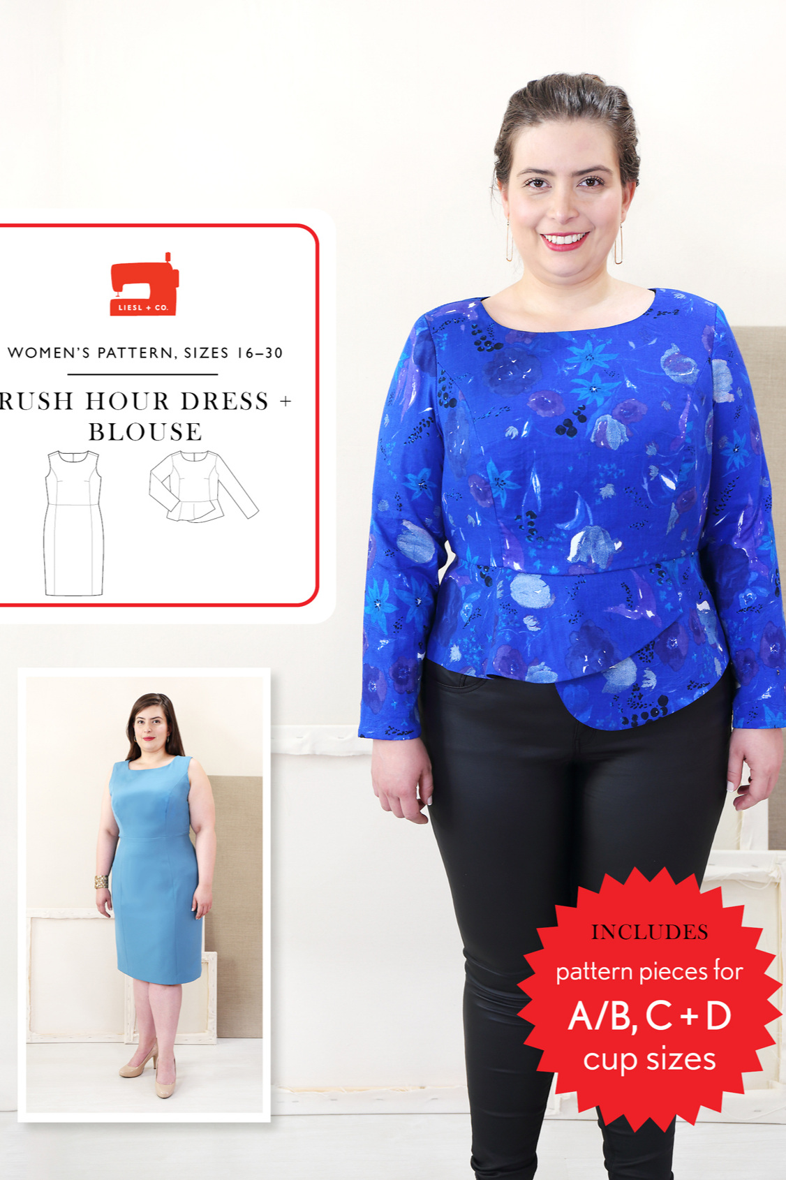Rush Hour Dress and Blouse sewing pattern from Liesl + Co