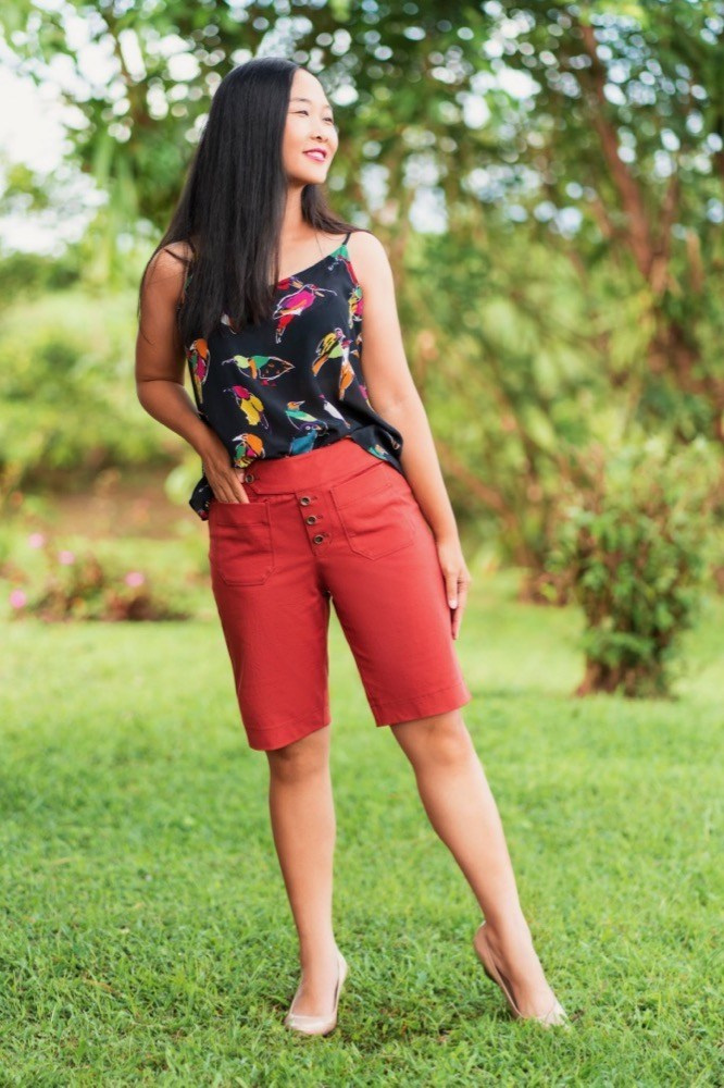 Hermosa Shorts sewing pattern from Itch to Stitch