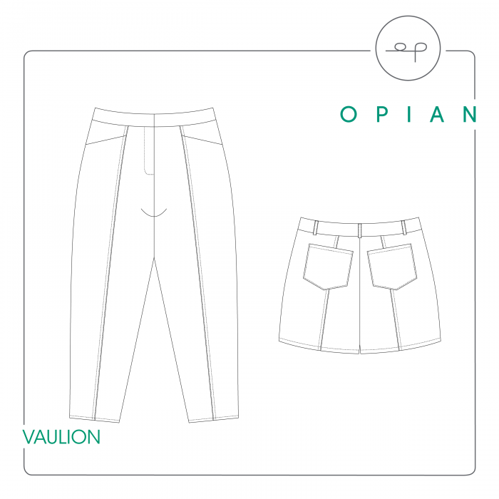 Vaulion Trousers and Shorts sewing pattern from Opian
