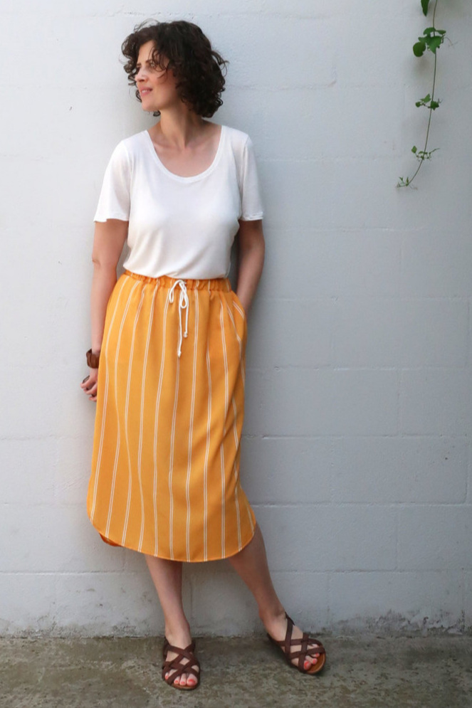 Lela skirt sewing pattern from Sew DIY