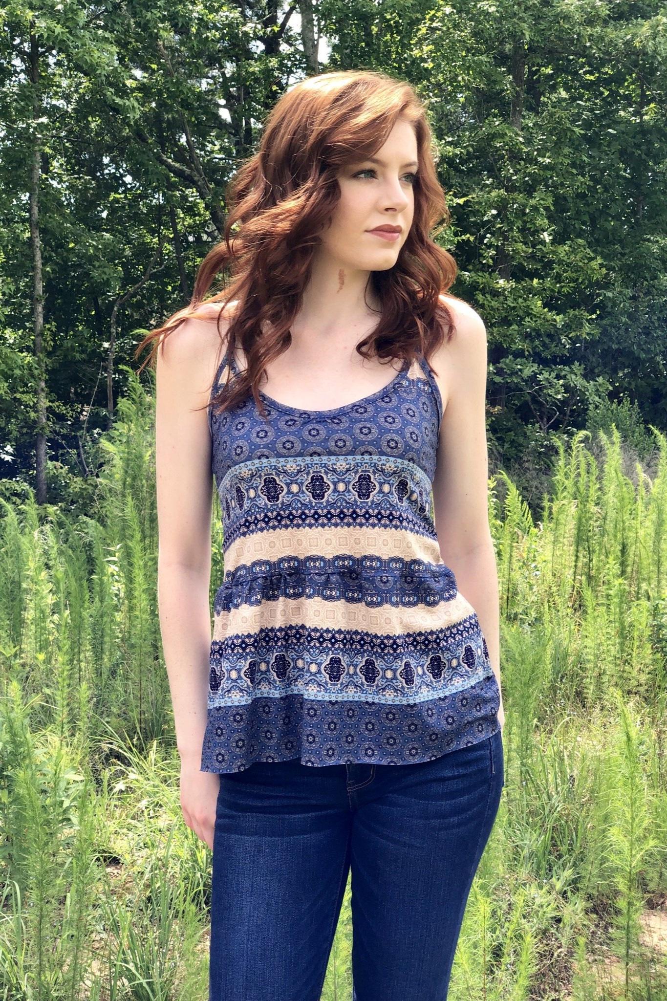 Floral Dreams Tank Top sewing pattern from Ellie & Mac