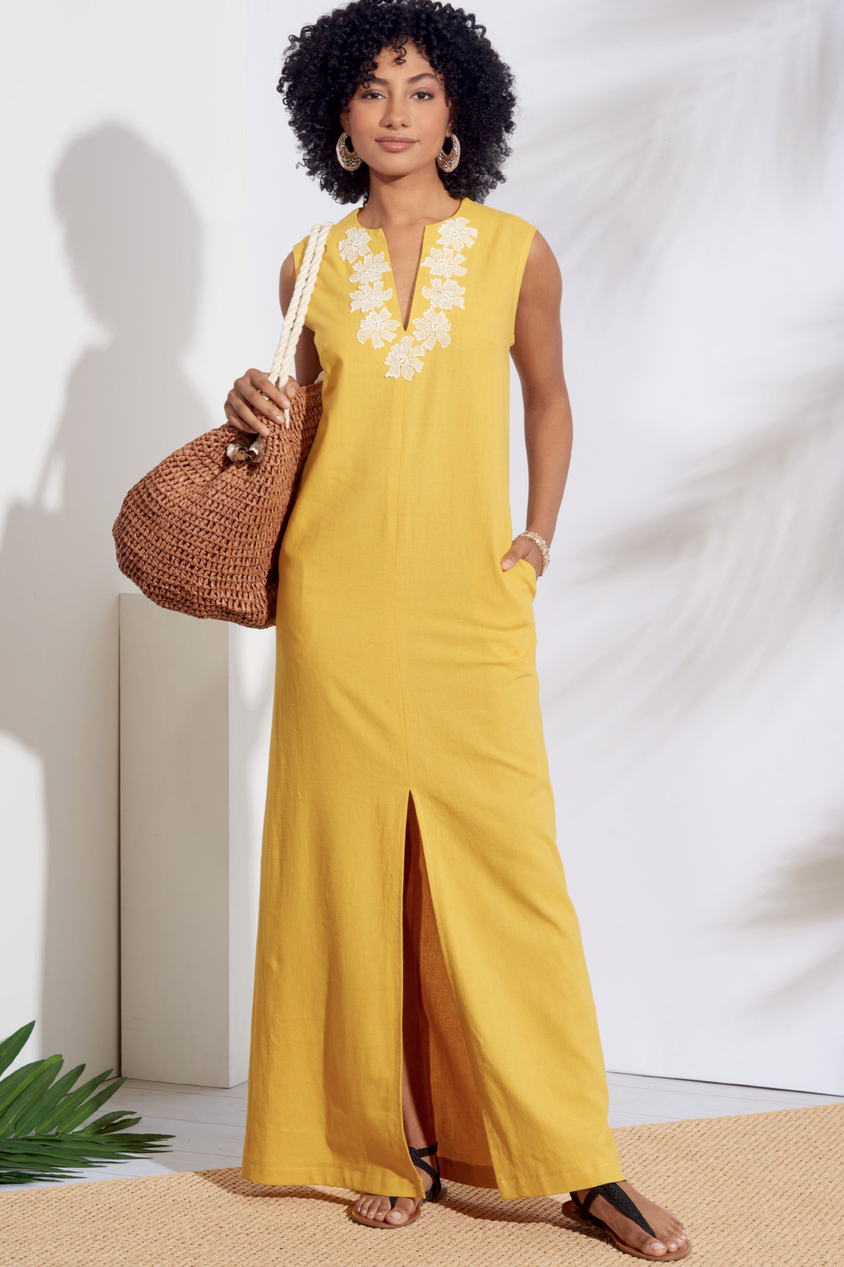 Simplicity 8912 maxi or short dress sewing pattern