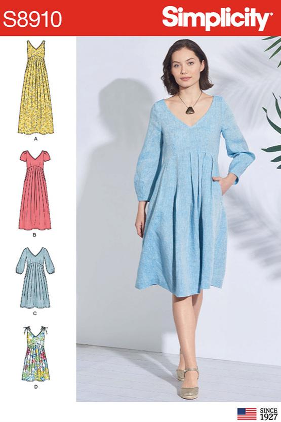 Simplicity 8910 dress sewing pattern