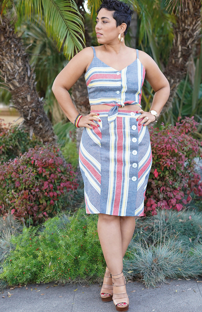 Simplicity 8927 top and skirt set pattern from Mimi G Style