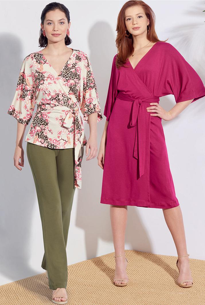 Simplicity 8925 knit fabric wardrobe pattern pack
