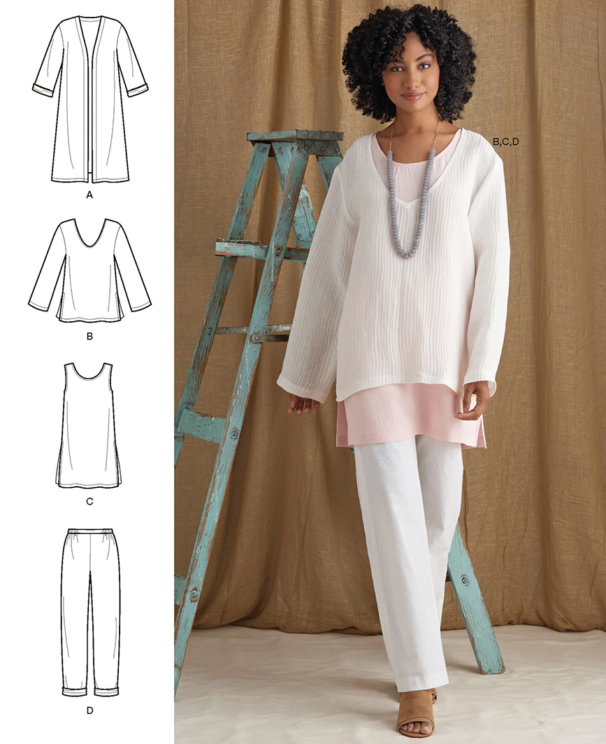 S8924 wardrobe essentials for the latered look