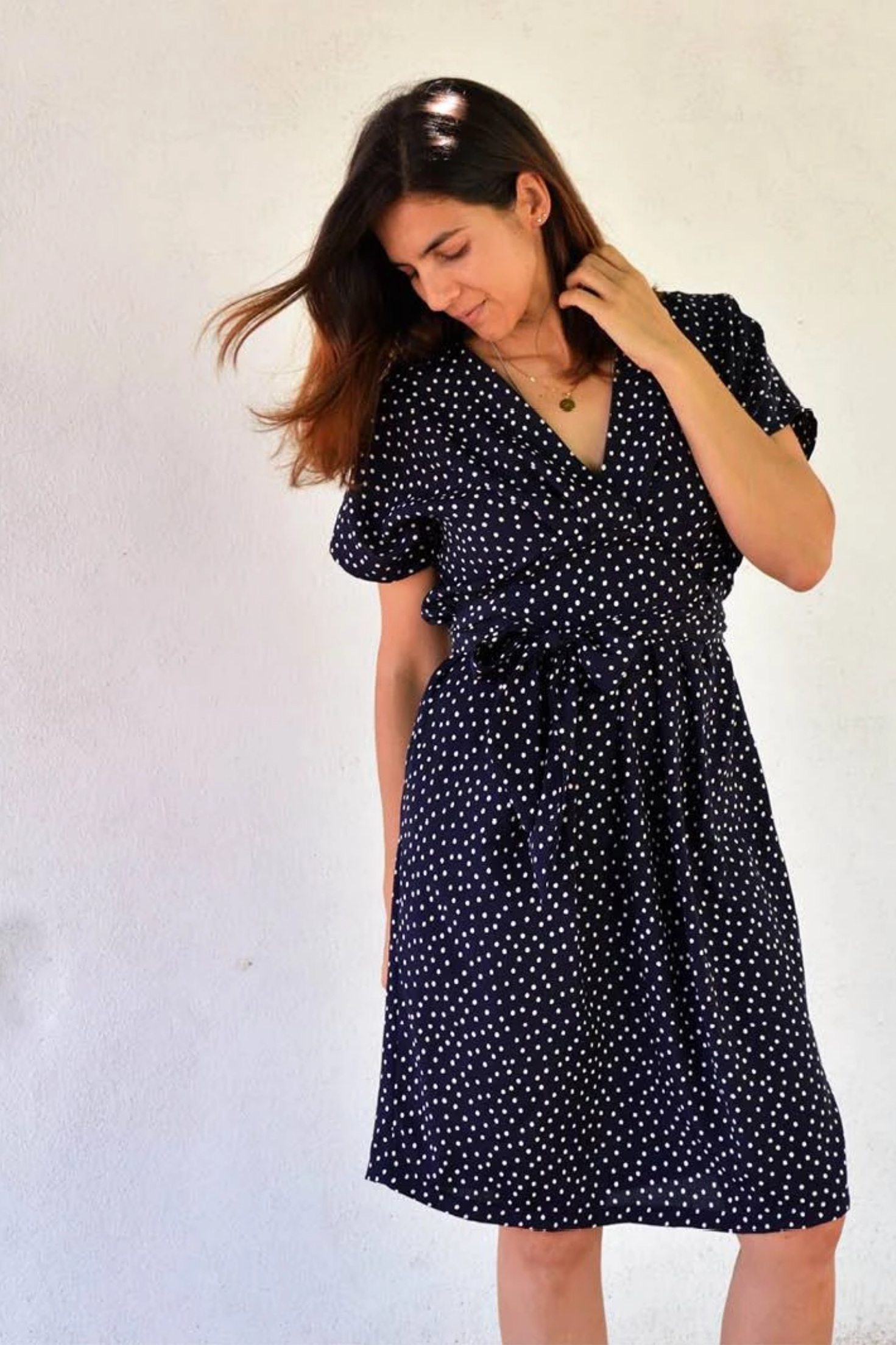Akinori Wrap Dress from Wardrobe By Me